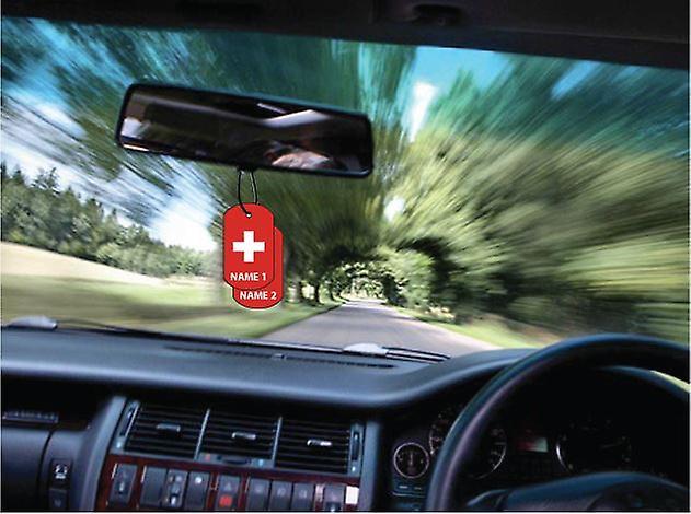 Gepersonaliseerde Zwitserland Dog Tag auto luchtverfrisser