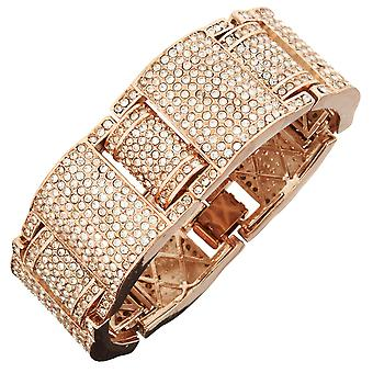 Iced Out Bling Hip Hop Bracelet Armband - YOUNG MONEY rose