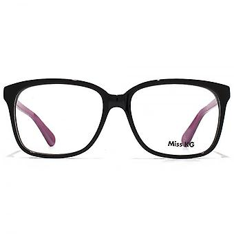 Rectángulo de Miss KG Retro gafas en color negro