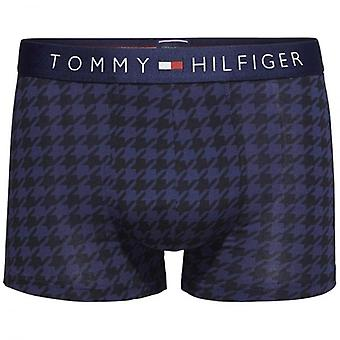 Tommy Hilfiger Icon Houndstooth Stretch Cotton Trunk, Peacoat, X-Large