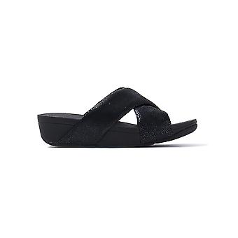 FitFlop Women's Swoop Slide Sandals - Black
