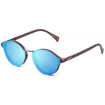 Ocean Loiret Flat Lense Sunglasses - Sky Blue/Brown -