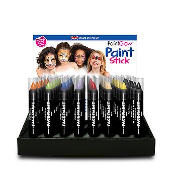 PaintGlow Face Paint Stick Party Face Painting 32 Various Colours. Made in UK 3g