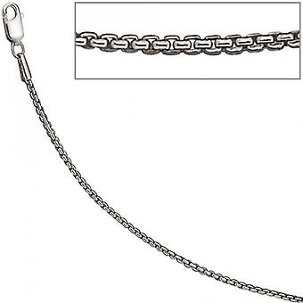 Necklace silver chain 925 Sterling Silver 925 /-s Venetian chain rhod. 1.6 mm