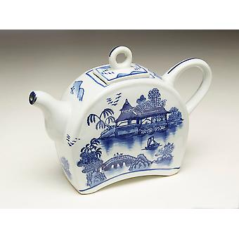 AA Importing 59785 Blue And White Teapot