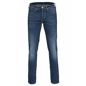 Lee Daren Regular Slim Hose Herren Jeans Blau mit Washed Optik