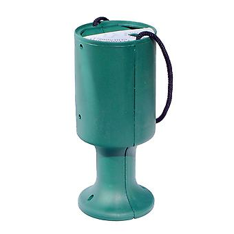 Round Charity Money Collection Box - Bottle Green