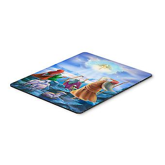 The Shepherds and Angels Appeared Mouse Pad, Hot Pad or Trivet