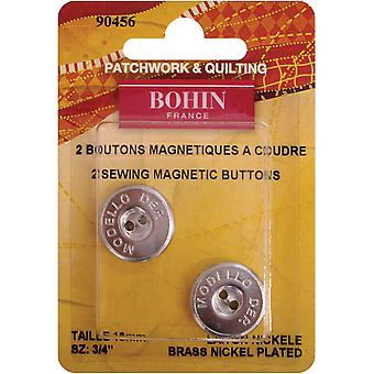 Magnetic Sew-On Button 3/4