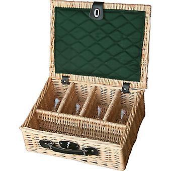 4 Glass Presentation Drinks Basket