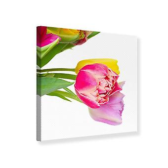 Canvas Print A Colorful Bunch Of Tulips