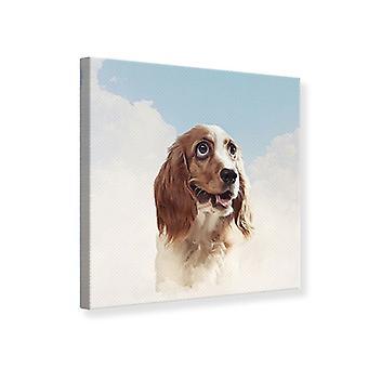 Canvas Print Happy Dog