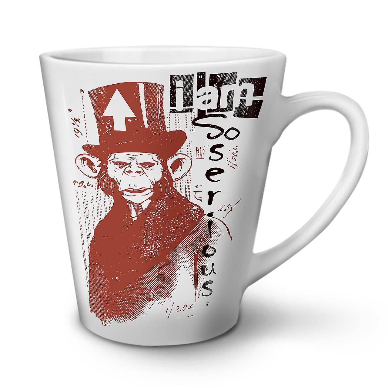 Grave En OzWellcoda Latte Blanche Singe Tasse Café 12 Céramique Nouvelle Si LAjR54