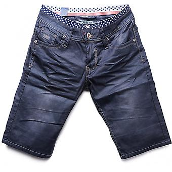 Men's Jeans Bermuda shorts Strell denim shorts stretch dark wash shine