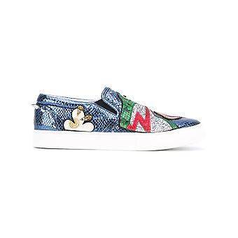 Marc Jacobs women's M9001799MULTICOLOR multicolour leather slip on sneakers