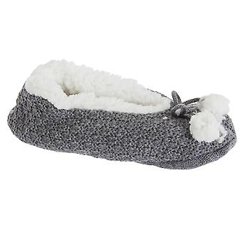 Foxbury Womens/Ladies Cosy Grippy Slippers