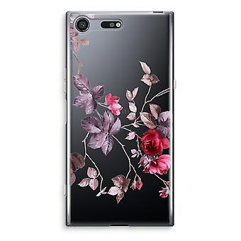 Sony Xperia XZ Premium transparente caso (Soft) - flores bonitas
