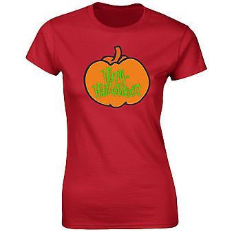 Happy Halloween pompoen Womens T-Shirt 8 kleuren (8-20) door swagwear