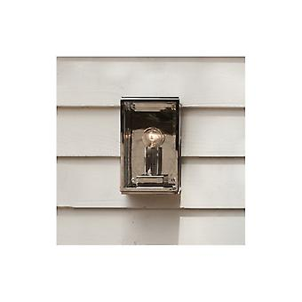 Homefield Small Polished Nickel Outdoor Wall Light - Astro Lighting 7591