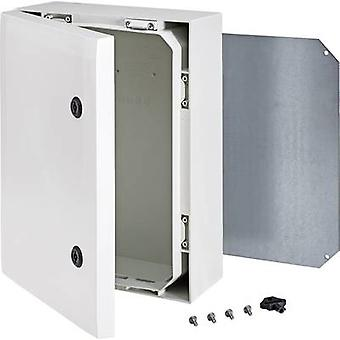 Wall-mount enclosure, Build-in casing 400 x 300 x 150 Polycarbonate (PC) Grey