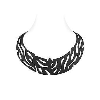 Jungle in Silicone black effect tattoo necklace