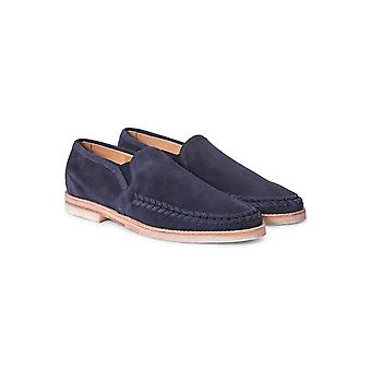 Hudson Tangier Suede Loafers Navy