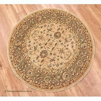 Raya beżowy dywan zielony okrąg
