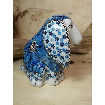 Dog, sitting, 11 x 11 x 7,5 cm, 4 Unikat polish pottery - BSN 8028