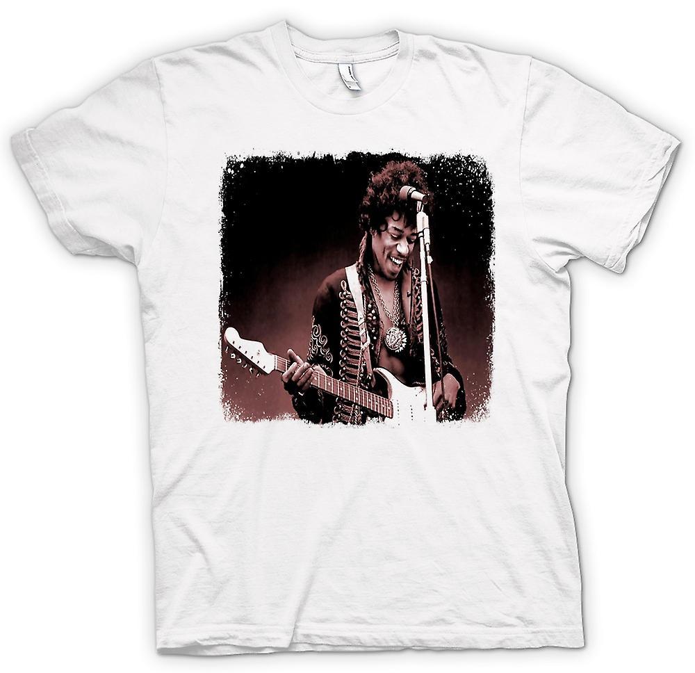 Womens T-shirt - Jimi Hendrix - Sepia - Portrait