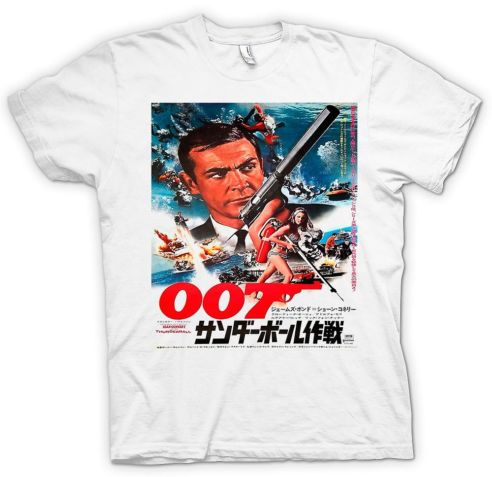 Womens T-shirt - Thunderball - Japanse Movie Poster