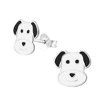 Dog - 925 Sterling Silver Colourful Ear Studs - W37077x