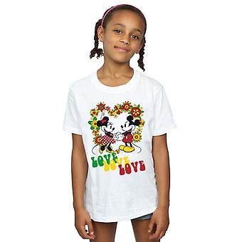 Disney meisjes Mickey en Minnie Mouse Hippie Love T-Shirt