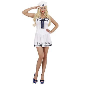 Sailor Girl White (Corset Skirt Hat)