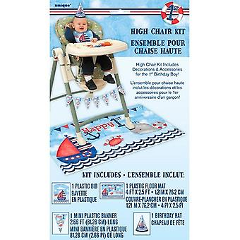 Unique Party Nautical 1st Birthday High Chair Kit