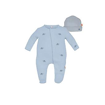 Magnificent Baby Magnetic Me™ Darjeeling Express Baby Boy Footie & Hat Set