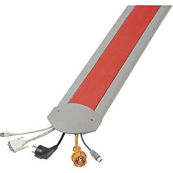 Serpa Cable bridge TPE (low-odour thermoplastic elastomer ) Light grey, Red No. of channels: 5 1500 mm Content: 1 Set