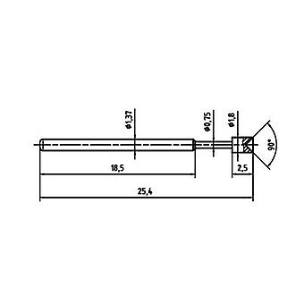 PTR 1015-A-0.7N-AU-1.8 Precision test tip