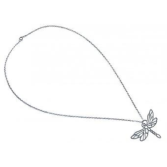 delicate silver chain - chain - necklace - pendants - silver - Dragonfly - 45 cm