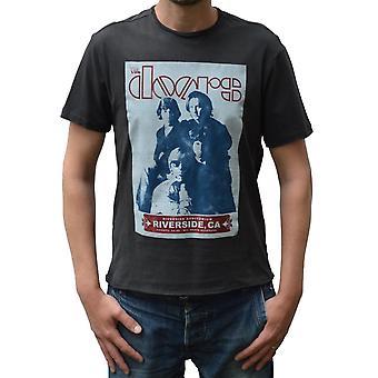 Amplified The Doors Riverside Charcoal Crew Neck T-Shirt S