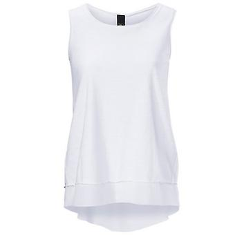 B.C.. best connections simple blouse top in the layered look white