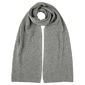 Johnstons of Elgin Ribbed Scarf - Light Grey
