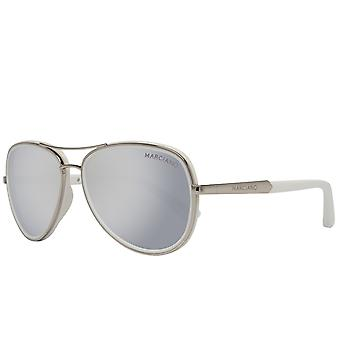 GUESS by MARCIANO women's Aviator sunglasses silver