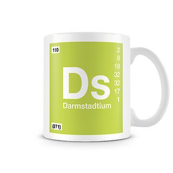 Wetenschappelijke bedrukte mok Featuring Element symbool 110 Ds - Darmstadtium