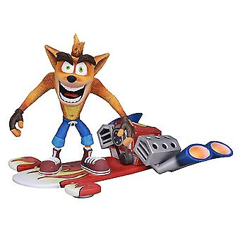 Crash Bandicoot 7 action figure ultimate hoverboard crash material: plastic, manufacturer: NECA