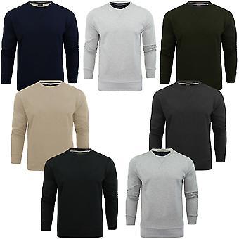 Brave Soul Mens Jones Crew Neck Casual Long Sleeve Pullover Sweatshirt Jumper