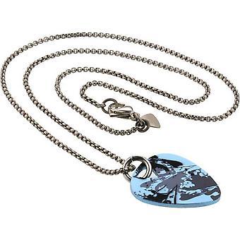 Ti2 Titanium Plectrum Splash Pendant - Silver/Light Blue