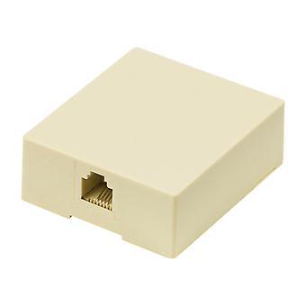 Valueline VLTP90822I Telecom Wand Einfaßung Rj11 weibliche Elfenbein