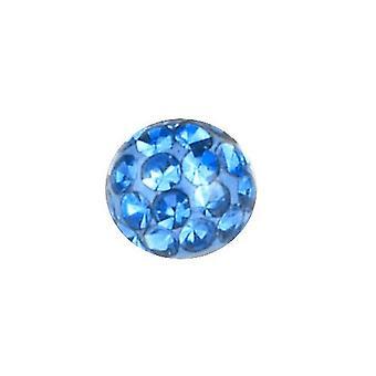 Ersatz-Ball Piercing, Multi Kristall Steinen hellblau   3 - 8 mm