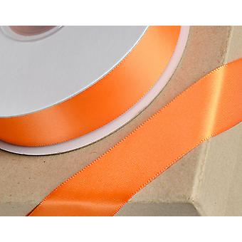 23mm Orange Satin Ribbon for Crafts - 25m | Ribbons & Bows for Crafts