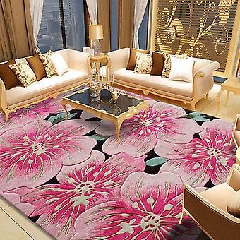 Pink 100% Wool Large Size Carpets